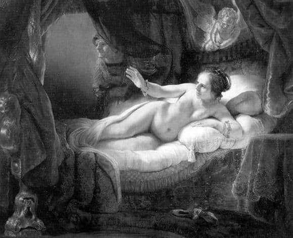 Description of the painting by Rembrandt Harmens van Rijn Danae