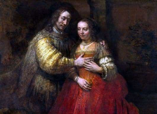 Description of the painting by Rembrandt The Jewish Bride