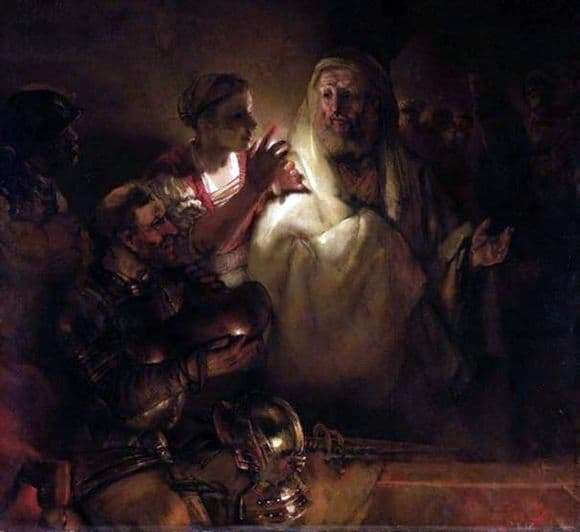 Description of the painting by Rembrandt Harmensz van Rijn Peters Denial