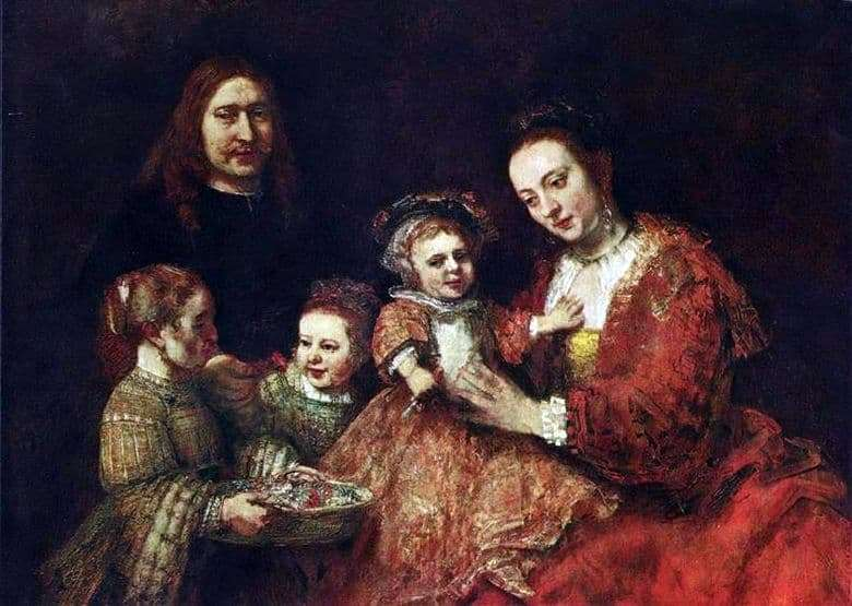 Description of the painting by Rembrandt Harmens van Rijn Family Portrait