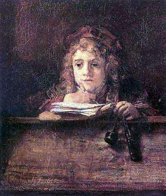 Description of the painting by Rembrandt Harmensz van Rijn Titus Son