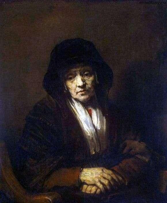Description of the painting by Rembrandt Harmens van Rijn Portrait of an old woman