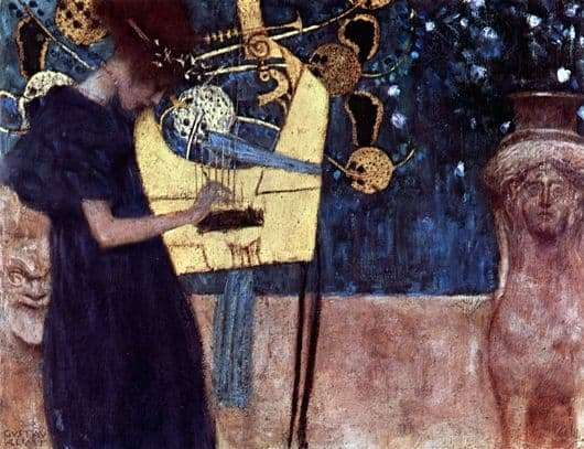 Description of the painting by Gustav Klimt Music