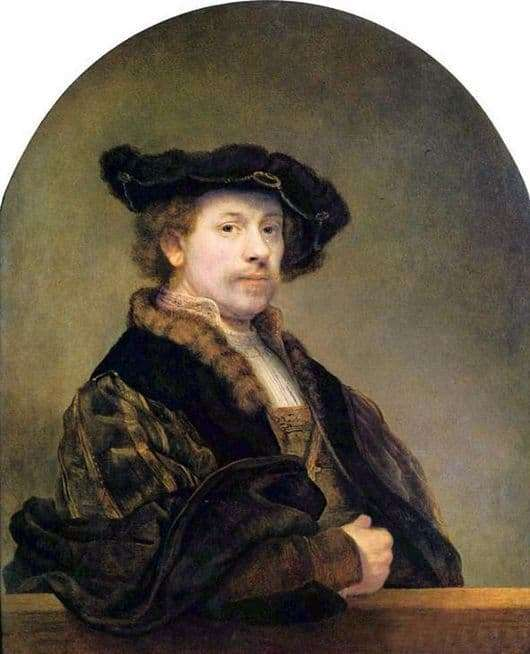 Description of the painting by Rembrandt Harmensz van Rijn Self portrait