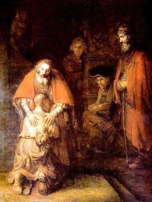 Description of the painting by Rembrandt Harmensz van Rijn The Return of the Prodigal Son
