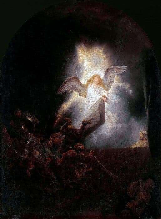 Description of the painting by Rembrandt Harmensz van Rijn Resurrection of Christ