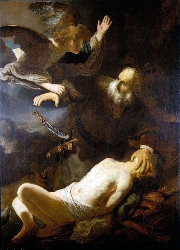 Description of the painting by Rembrandt Harmenz van Rijn The Sacrifice of Abraham