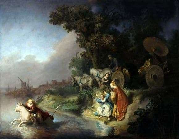 Description of the painting by Rembrandt The Abduction of Europe