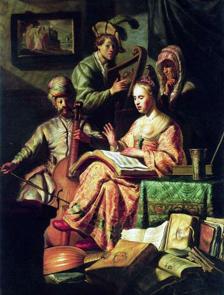 Description of the painting by Rembrandt Harmens Van Rijn Allegory of Music