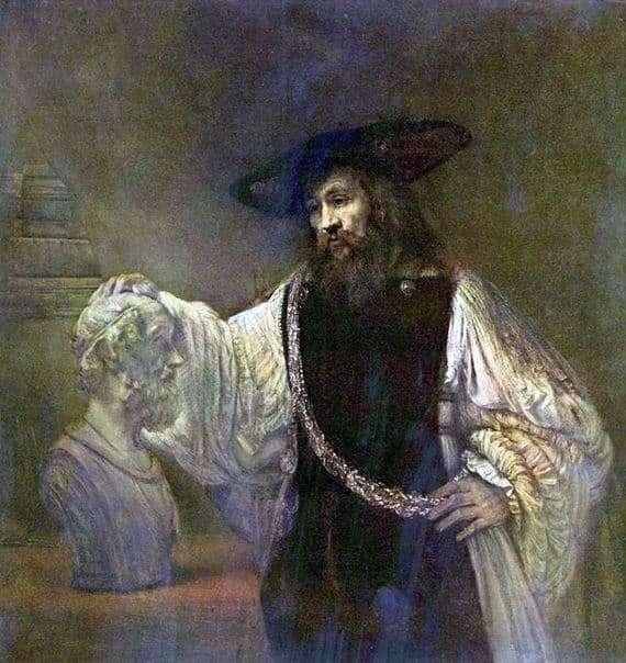 Description of the painting by Rembrandt Harmenz van Rijn Aristotle