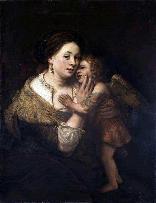 Description of the painting by Rembrandt Harmens van Rijn Venus and Cupid
