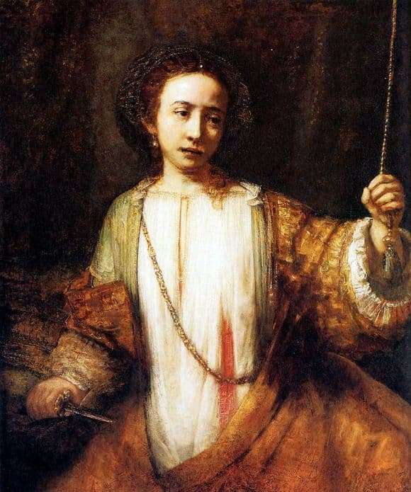 Description of the painting by Rembrandt Harmensz van Rijn Lucretia