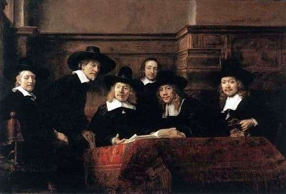 Description of the painting by Rembrandt Harmens van Rijn Sindiki