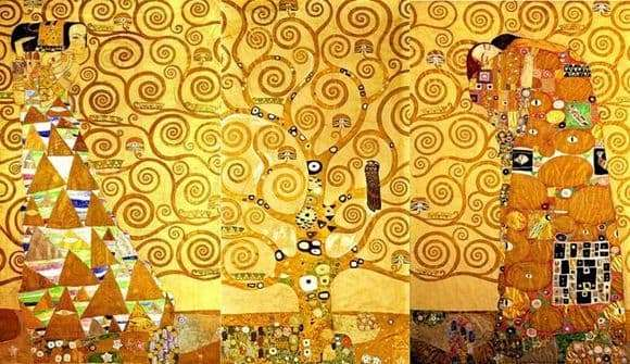 Description of the painting by Gustav Klimt Waiting