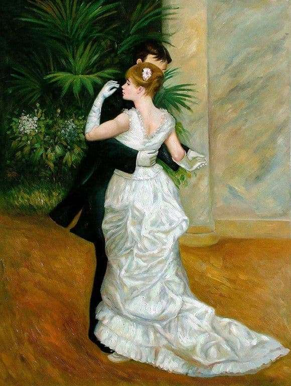 Description of the painting by Pierre Auguste Renoir Dance in the city