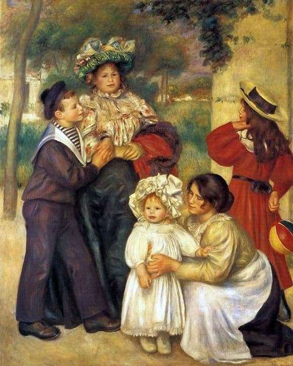 Description of the painting by Pierre Auguste Renoir Family of Renoir