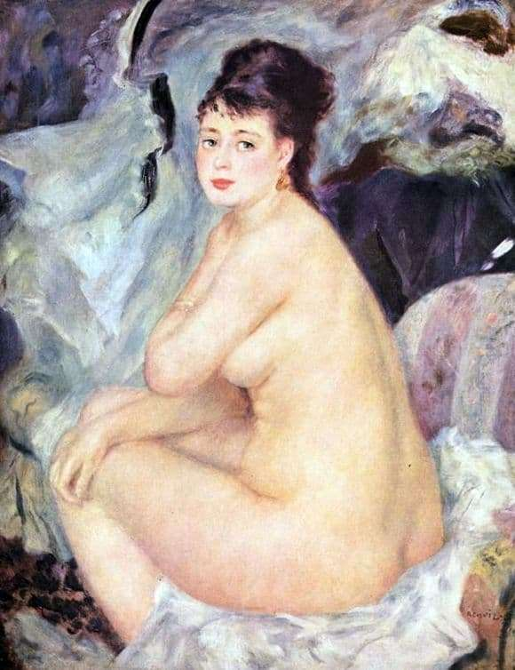 Description of the painting by Pierre Auguste Renoir Nude