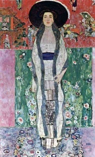 Description of the painting by Gustav Klimt The second portrait of Adele