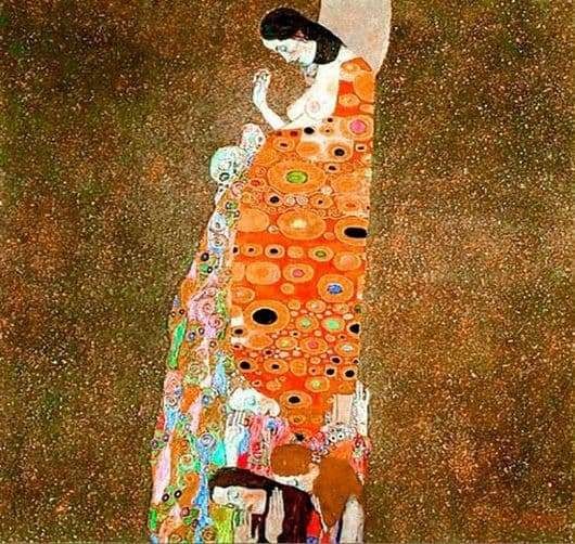 Description of the painting by Gustav Klimt Hope II