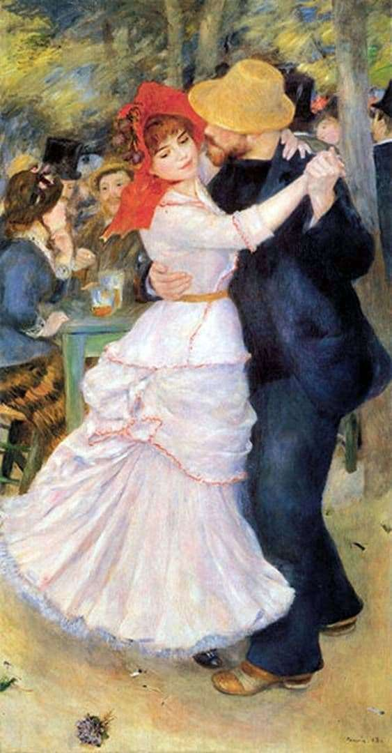 Description of the painting by Pierre Auguste Renoir Dance in Bougival
