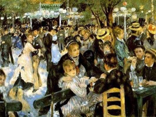 Description of the painting by Pierre Renoir Ball in Moulin de la Galette