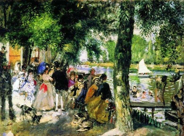 Description of the painting by Pierre Auguste Renoir Bathing in the Seine