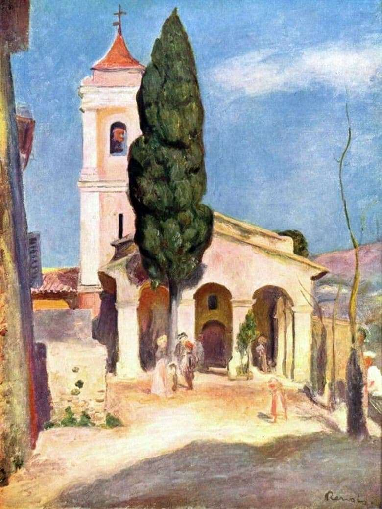 Description of the painting by Pierre Auguste Renoir Church in Cana