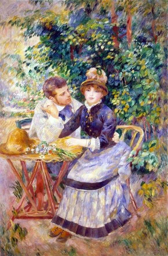 Description of the painting by Pierre Auguste Renoir In the Garden