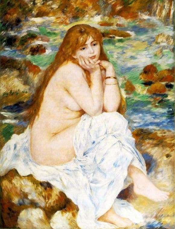 Description of the painting by Pierre Auguste Renoir Seated Bather