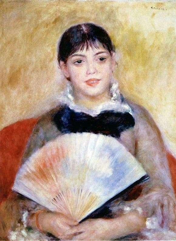Description of the painting by Pierre Auguste Renoir Girl with a Fan