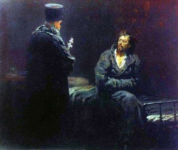 Description of the painting by Ilya Repin Denial of confession