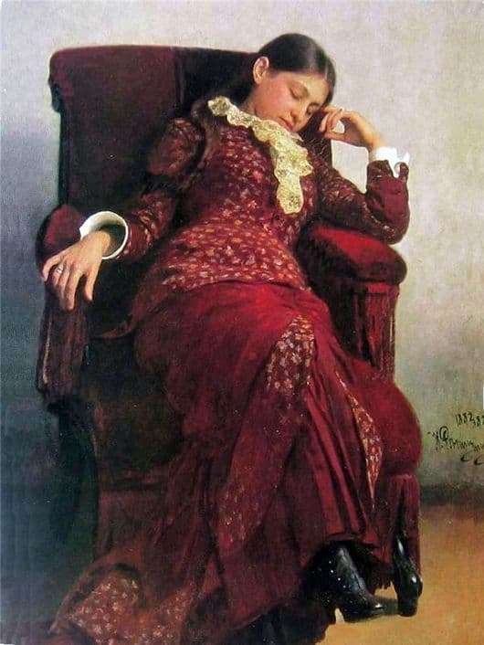 Description of the painting by Ilya Repin Rest