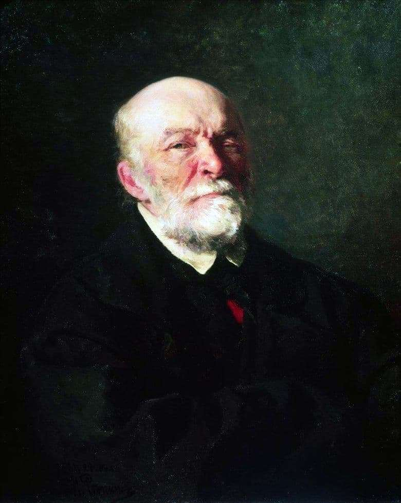 Description of the painting by Ilya Repin Portrait of Pirogov