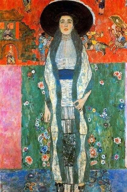 Gustav Klimts painting Portrait of Adele Bloch Bauer II