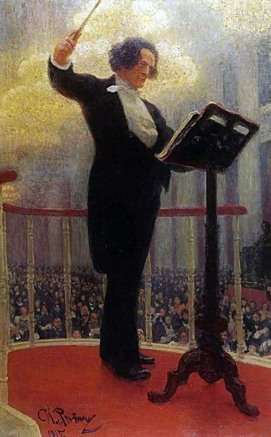 Description of the painting by Ilya Repin Portrait of Anton Rubinstein