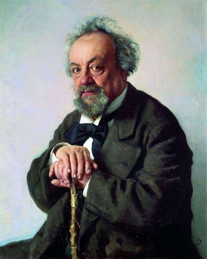 Description of the painting by Ilya Repin Portrait of Pisemsky