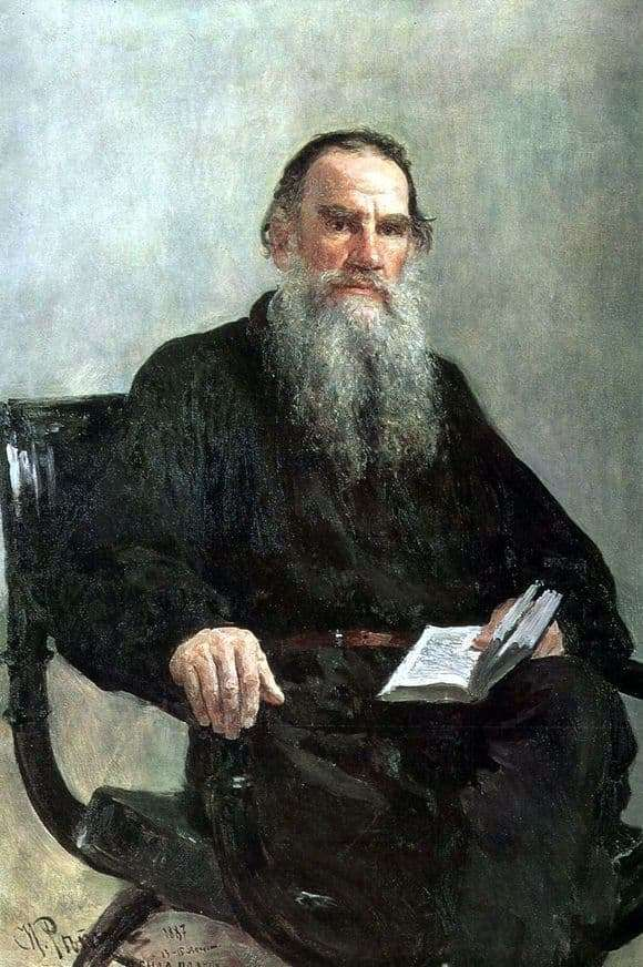 Description of the painting by Ilya Repin Portrait of Tolstoy