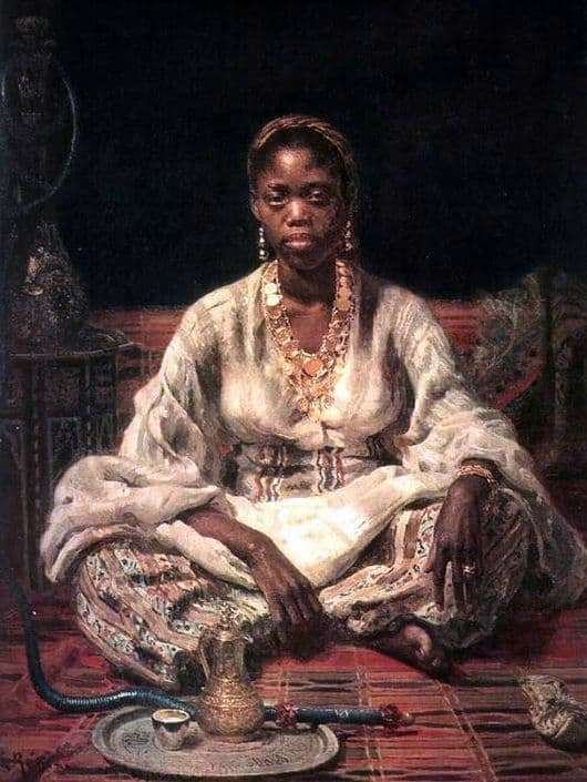Description of the painting by Ilya Repin Black Woman