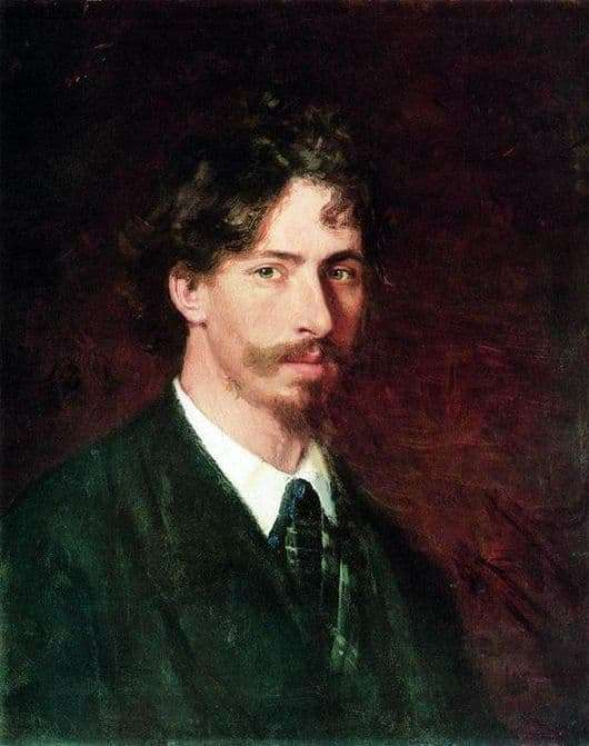Description of the painting by Ilya Repin Self portrait