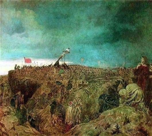 Description of the painting by Ilya Repin Calvary