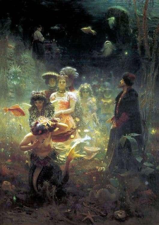 Description of the painting by Ilya Repin Sadko