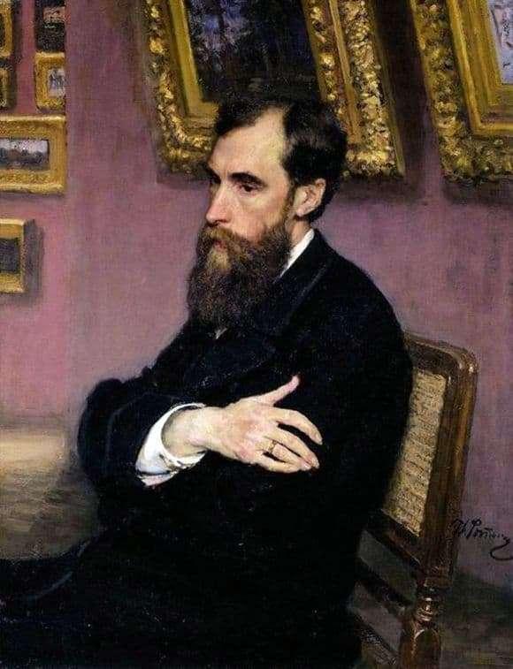 Description of the painting by Ilya Repin Portrait of Tretyakov