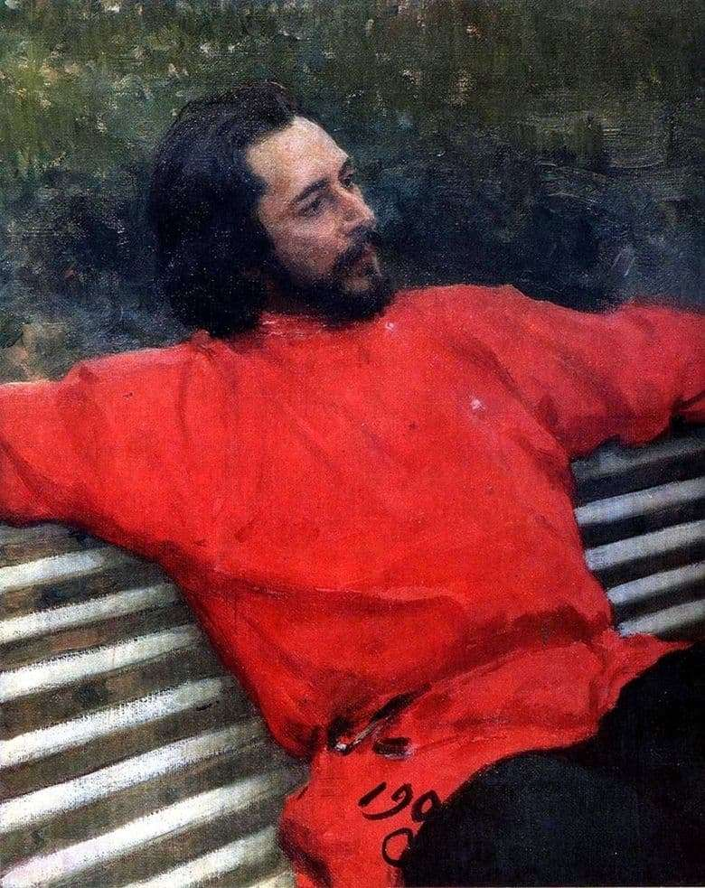 Description of the painting by Ilya Repin Portrait of Andreev