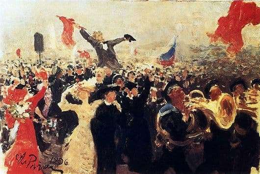 Description of the painting by Ilya Repin Manifestation