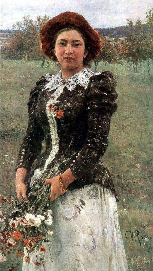 Description of the painting by Ilya Repin Autumn bouquet