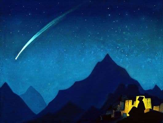 Description of the painting by Nicholas Roerich Star Hero