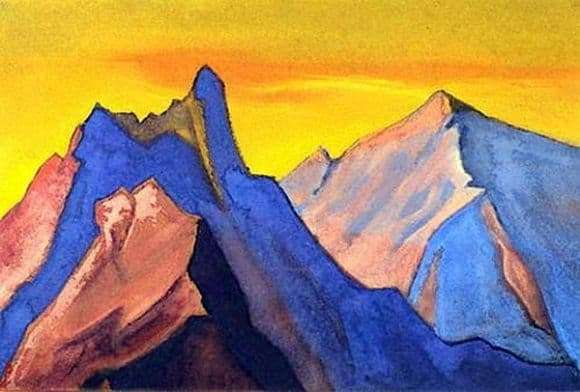Description of the painting by Nicholas Roerich Himalayas