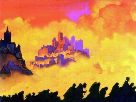 Description of the painting by Nicholas Roerich Armageddon