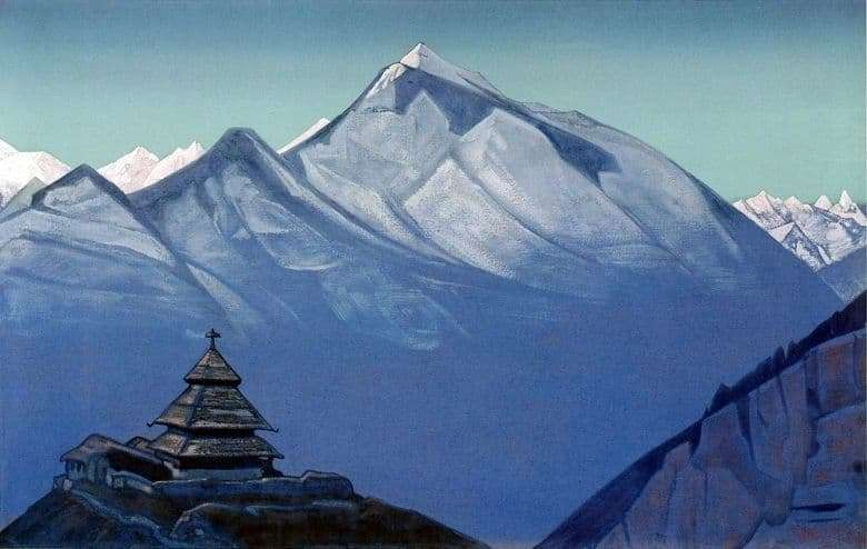 Description of the painting by Nicholas Roerich Temple at Naggar