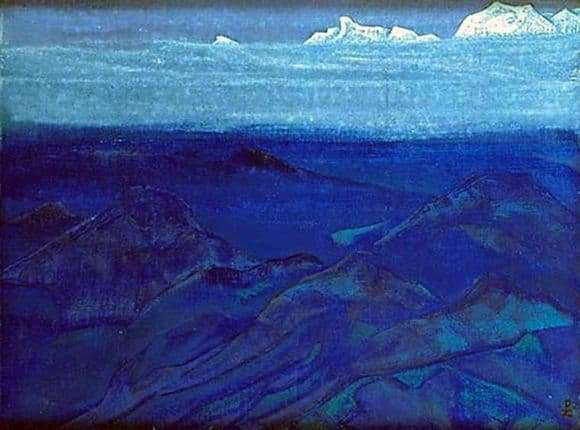 Description of the painting by Nicholas Roerich Mountains